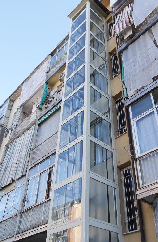struttura ascensore esterno Torino